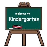 kindergarten blackboard easel