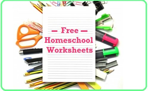 Free Homeschooling Worksheets - Homeschool Curriculum