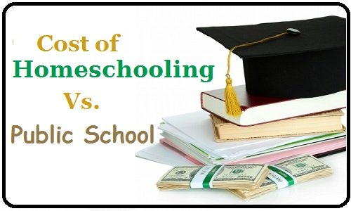 cost of homeschooling vs public school