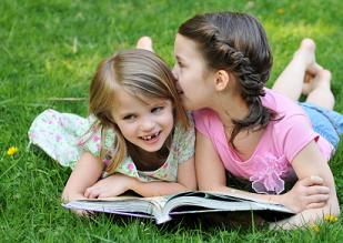 homeschool girls reading and socializing