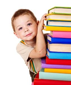 homeschoolingboywithbooks