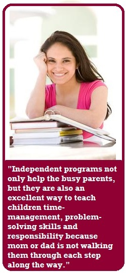 Independent homeschool program - quote from busy parent