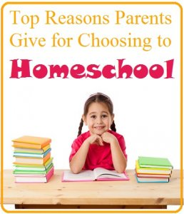reasons for homeschooling graphic