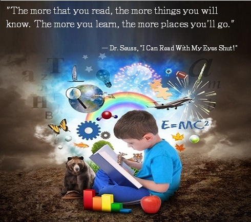 dr suess reading quote graphic