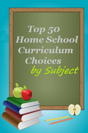 Top 50 Homeschool Curriculum Choices by Subject - Chalkboard and books