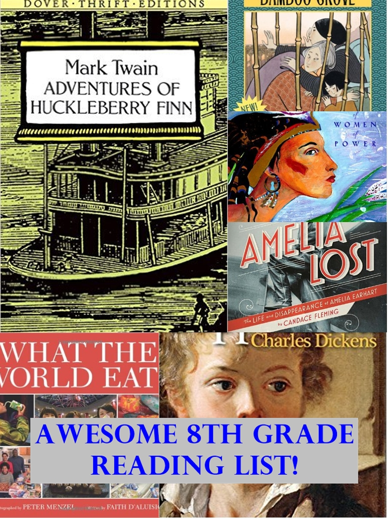 Recommended 8th Grade Reading List Homeschool Curriculum