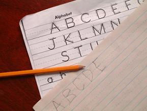 Printable handwriting worksheets in use