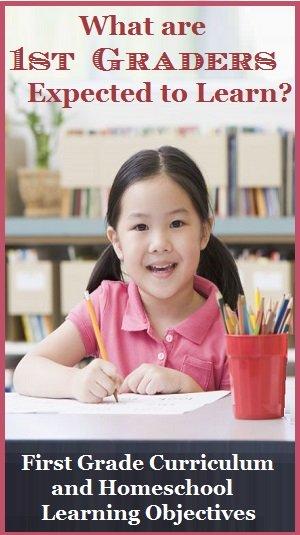 first grade curriculum objectives