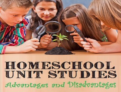 Homeschool Unit Studies - Children and Parent Examining Plant with Magnifying Glasses