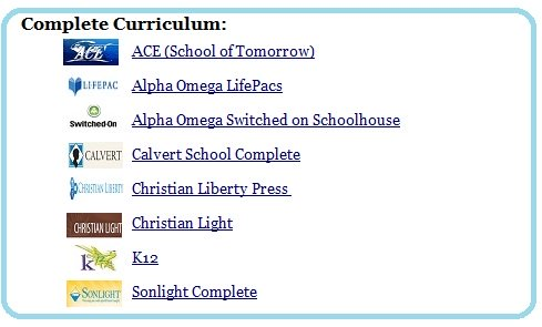 homeschool curriculum choices - complete homeschool curriculum