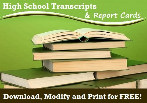 high school transcripts and report card templates