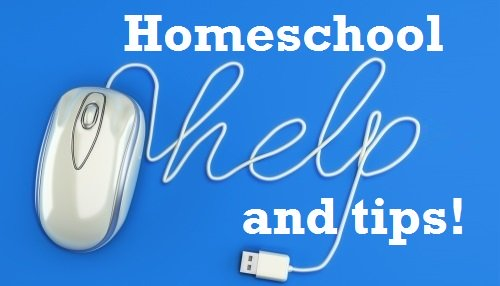 homeschool help and tips graphic