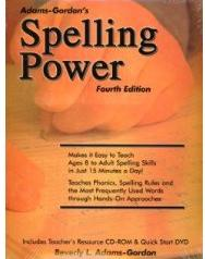 Spelling Power cover - homeschool spelling resource text including spelling worksheets