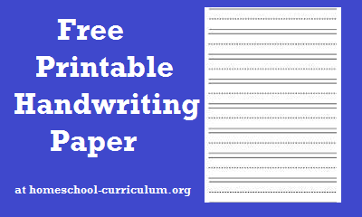free printable handwriting paper graphic