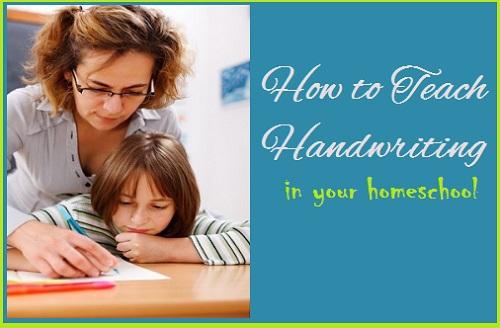 how to teach handwriting in homeschool