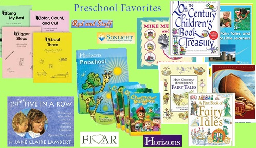preschool curriculum choices montage
