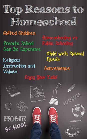 Top Reasons for Homeschooling graphic