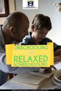 unschooling or relaxed homeschooling manual book cover